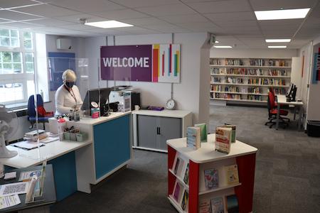 Inside Saxmundham Library