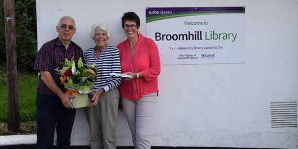 David Cook from Broomhill Library, Monica Ford HLS volunteer, Diane Moore Voluneer Engagement Manager