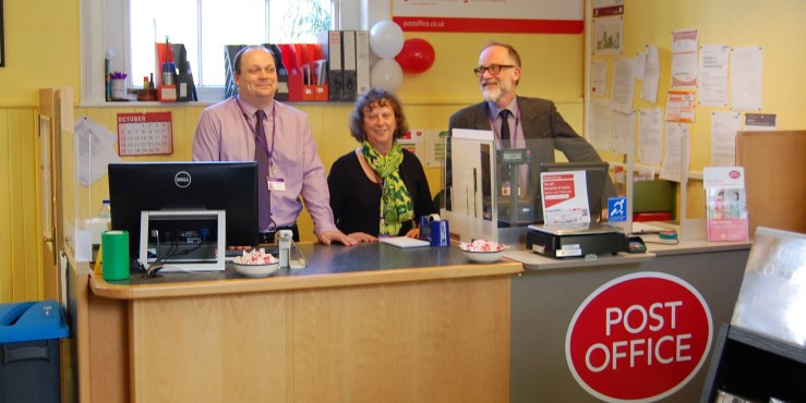The opening of Stradbroke Library's new post office